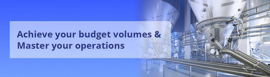 Achieve budget volumes Master operations